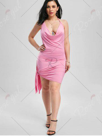 Buy Halter Backless Club Mini Dress - M PINK Mobile