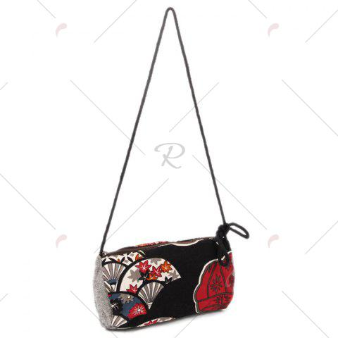 Outfits Tribal Print Linen Crossbody Bag - RED  Mobile