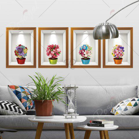 Affordable Photo Frame Flower Art 4Pcs/Set Wall Sticker - 60*90CM COLORMIX Mobile