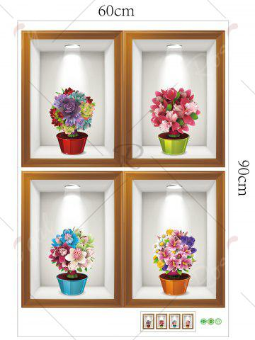 Best Photo Frame Flower Art 4Pcs/Set Wall Sticker - 60*90CM COLORMIX Mobile