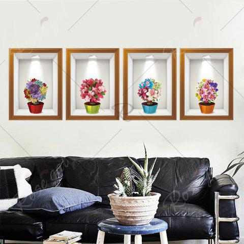 Discount Photo Frame Flower Art 4Pcs/Set Wall Sticker - 60*90CM COLORMIX Mobile