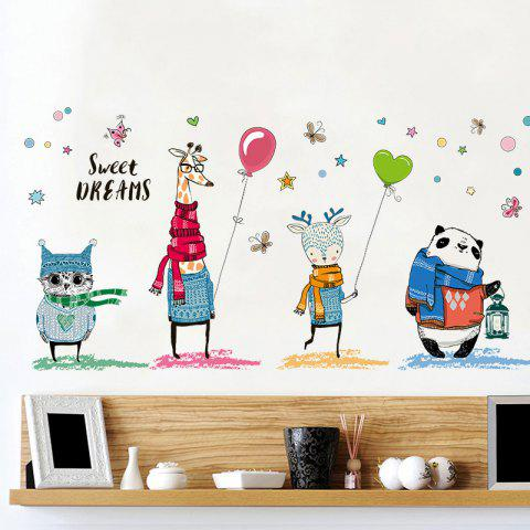 Cartoon Animal Wall Sticker Kids Room Decor - Colormix - 60*90cm