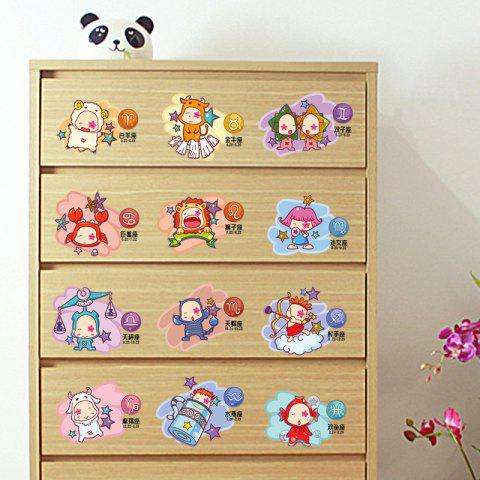 Latest 12 Constellation Cartoon Decorative Wall Sticker For Kids - 45*30CM COLORMIX Mobile