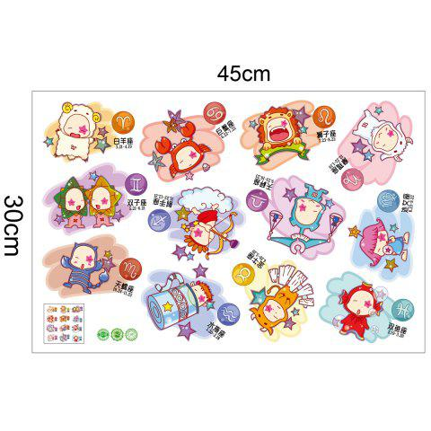Buy 12 Constellation Cartoon Decorative Wall Sticker For Kids - 45*30CM COLORMIX Mobile
