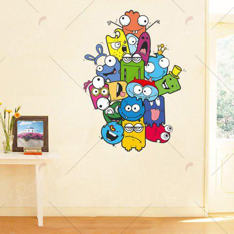 Cheap Cartoon Removable Vinyl Nursery Wall Sticker - 50*70CM COLORMIX Mobile