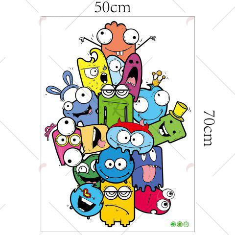 Outfit Cartoon Removable Vinyl Nursery Wall Sticker - 50*70CM COLORMIX Mobile