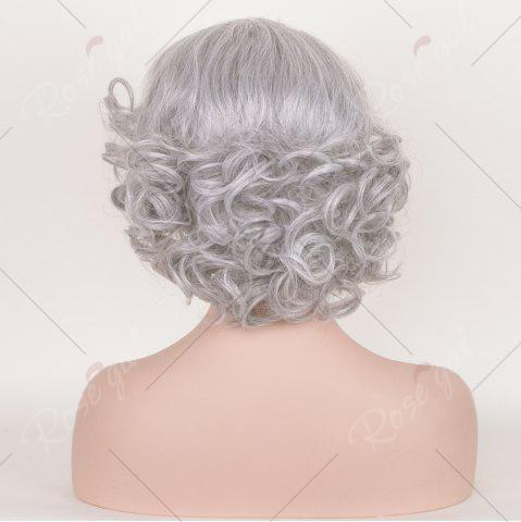 Online Short Side Bang Fluffy Curly Tyler Perry Cosplay Synthetic Wig - SMOKY GRAY  Mobile