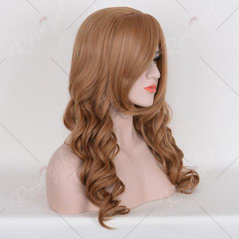 Fancy Long Free Part Cosplay Curly Synthetic Wig - BROWN  Mobile