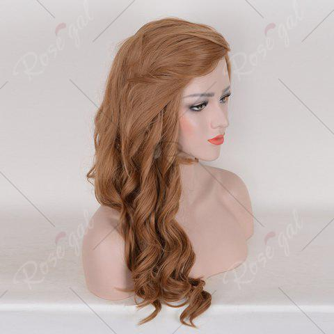 Outfits Long Free Part Cosplay Curly Synthetic Wig - BROWN  Mobile