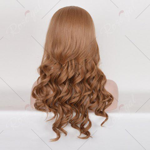 Outfit Long Free Part Cosplay Curly Synthetic Wig - BROWN  Mobile