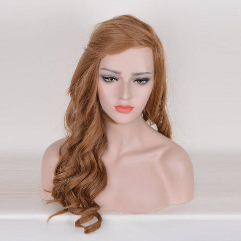 Online Long Free Part Cosplay Curly Synthetic Wig - BROWN  Mobile