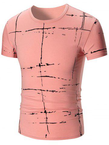 Buy Allover Painted Short Sleeve T-shirt PINK 2XL