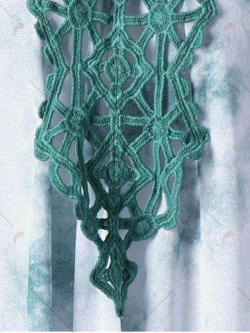 Outfits Cutwork Tie Dye Sleeveless Dress - XL GREEN Mobile