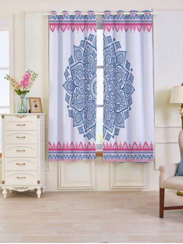 2 Panels Set Blackout Bohemian Mandala Window Curtains Coloré Largeur53pouces*Longeur63pouces