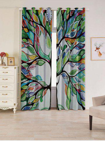 Latest Life of Tree Print Blackout 2 PCs Window Curtains