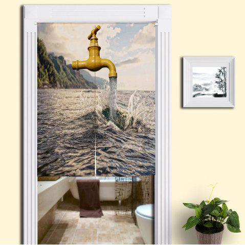 Buy Sea and Faucet Print Home Product Door Curtain COLORMIX W33.5 INCH * L47 INCH