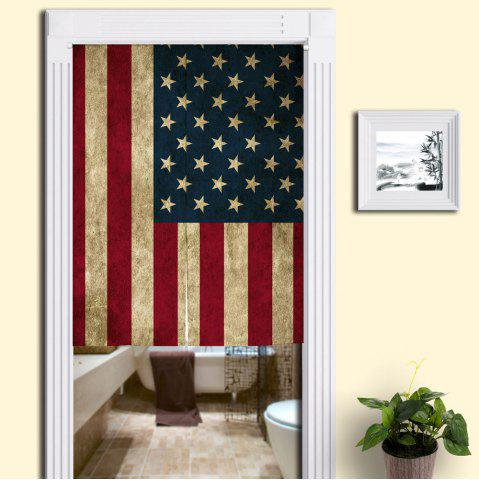 Trendy USA Flag Printed Decorative Door Curtain