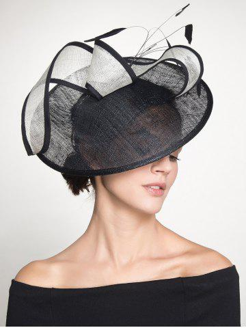 Buy Ribbon Feather Cambric Cocktail Hat BLACK