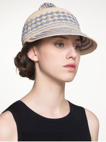 Fashion Pom Ball Rhombus Striped Baseball Cap
