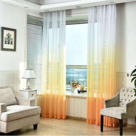 Outfits 1PC Transparent Gradient Color Voile Window Curtain