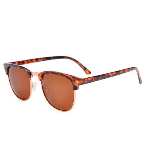 Fashion Anti UV Street Snap Sunglasses and Box - LEOPARD  Mobile