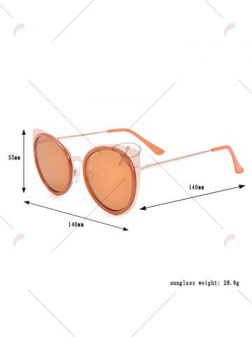 Chic Cat Eye Shaped UV Protection Sunglasses with Box - COFFEE  Mobile