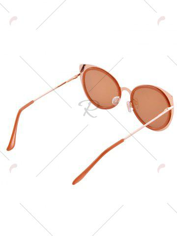 Fashion Cat Eye Shaped UV Protection Sunglasses with Box - COFFEE  Mobile