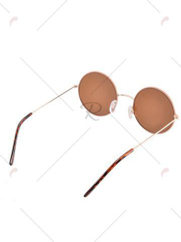 Chic Anti UV Round Sunglasses and Box - COFFEE  Mobile