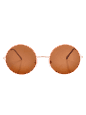 Sale Anti UV Round Sunglasses and Box - COFFEE  Mobile