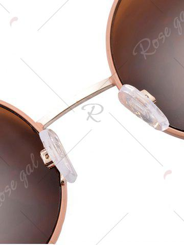 Latest Anti UV Round Sunglasses and Box - COFFEE  Mobile