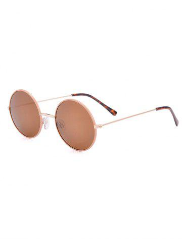 Cheap Anti UV Round Sunglasses and Box - COFFEE  Mobile