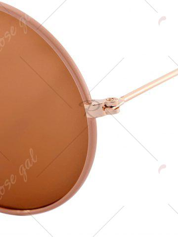 Shop Anti UV Round Sunglasses and Box - COFFEE  Mobile