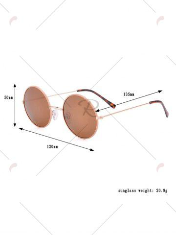 Hot Anti UV Round Sunglasses and Box - COFFEE  Mobile
