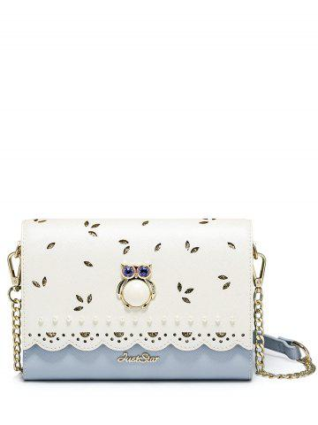 Owl Embellished Scalloped Crossbody Bag - Blue - 150*200cm