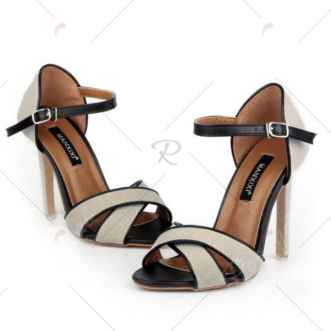 Best Ankle Wrap Canvas Sandals - 37 OFF-WHITE Mobile