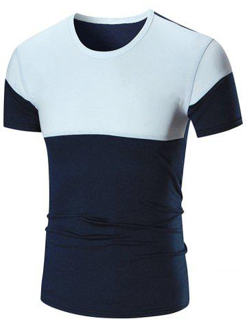 Hot Two Tone Stretch Short Sleeve T-shirt