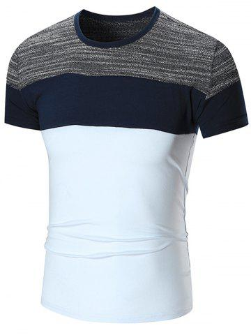 Outfits Color Block Short Sleeve T-shirt