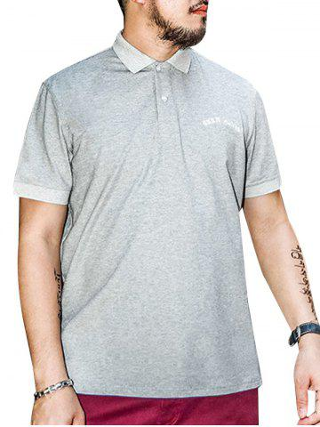 Cheap Plus Size Embroidered Polo Shirt