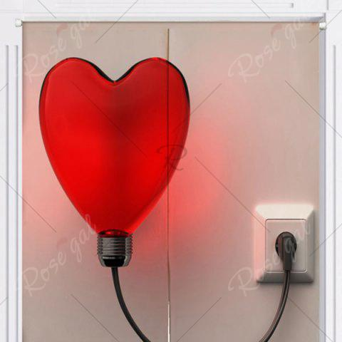 Affordable Heart Shaped Balloon Light Print Home Door Curtain - W33.5 INCH * L35.5 INCH COLORMIX Mobile