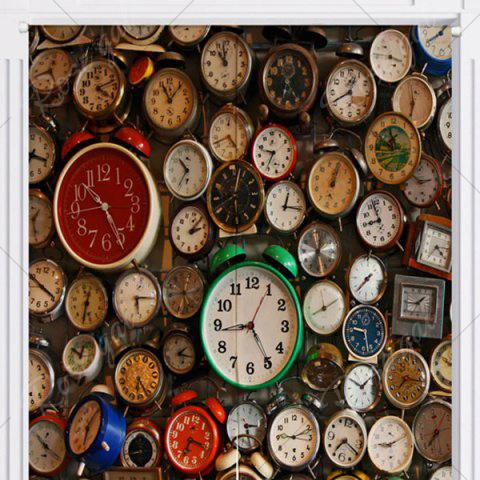Fancy Full Clock Printed Home Product Door Curtain - W33.5 INCH * L35.5 INCH COLORMIX Mobile
