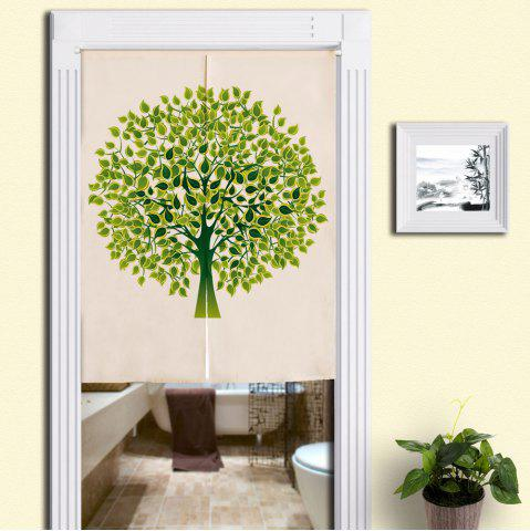 Unique Tree Pattern Home Product Artistic Door Curtain GREEN W33.5 INCH * L35.5 INCH