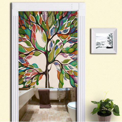Chic Home Product Artistic Colorful Tree Door Curtain