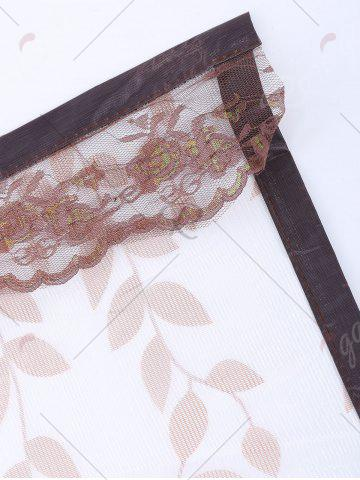 Chic Monkey Pattern Anti Mosquito Mesh Net Magnetic Curtain - 90*210CM COFFEE Mobile