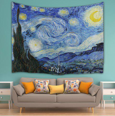 Shops Watercolor Space Home Decor Hanging Throw Tapestry - W59 INCH * L79 INCH BLUE Mobile