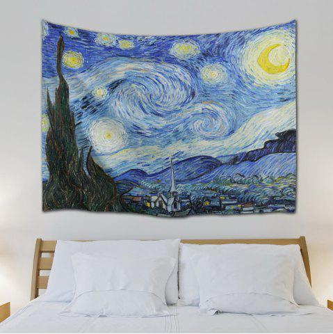 Outfit Watercolor Space Home Decor Hanging Throw Tapestry - W59 INCH * L79 INCH BLUE Mobile