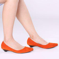 Shallow Mouth Low Heel Pumps