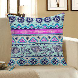 Floral Geometric Printed Home Decor Pillow Case