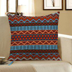Home Decor Bohemian Geometric Print Pillow Case - COLORFUL