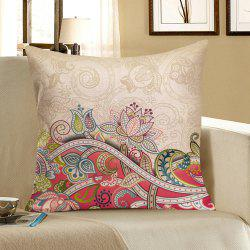 Floral Printed Home Decor Pillow Case - COLORFUL