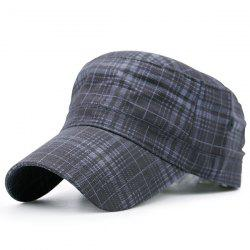 Flat Top Tiny Plaid Military Hat